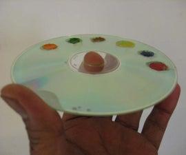 CD art paint palette