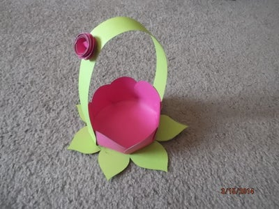Paper Flower Basket