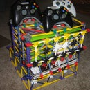 xbox 360 console controller game and guide / magizine stand