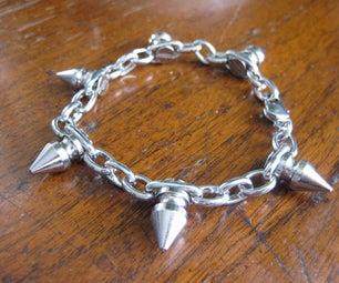 DIY Spike Chain Bracelet