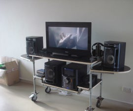 Water Pipe TV and HiFi Stand