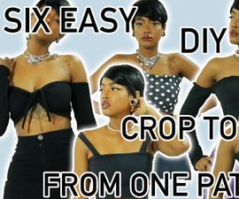 Six Easy Crop Crop Top From ONE Pattern !