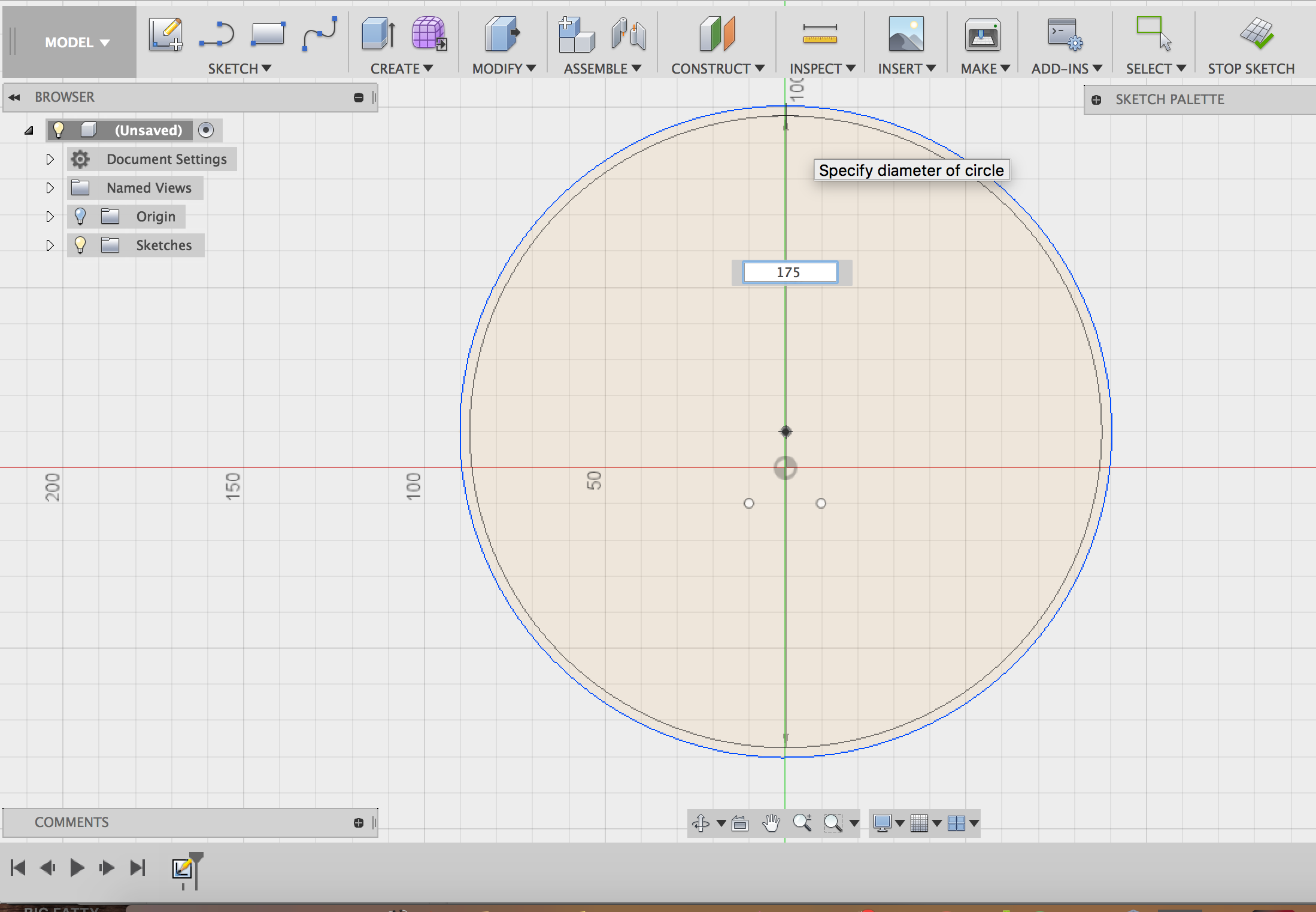 Picture of Draw the Circles to Form the Rings