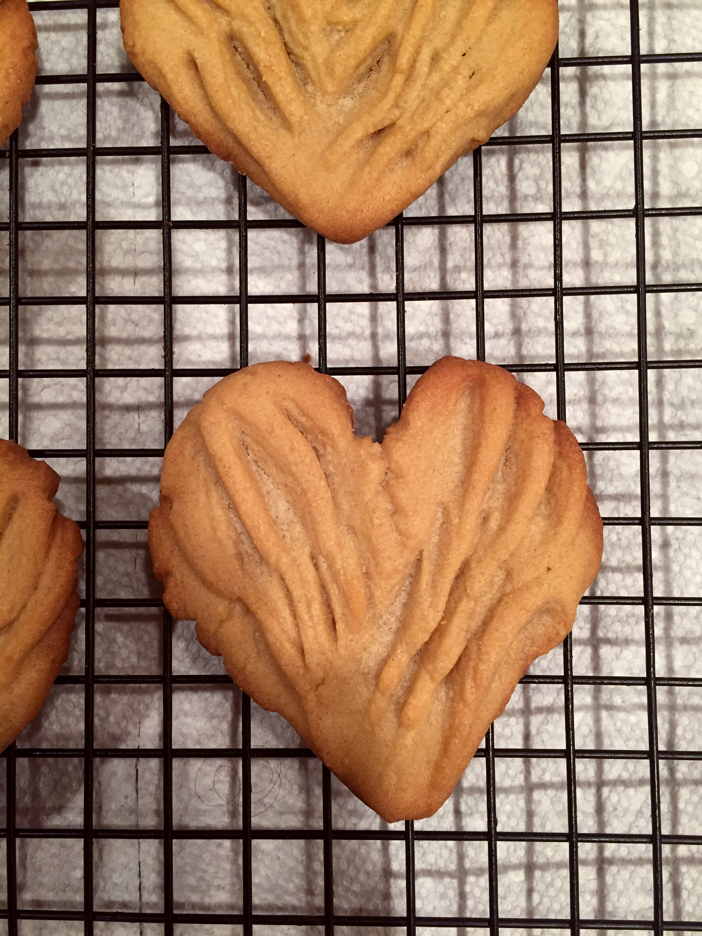 Picture of Heart Shaped Peanut Butter Cookies