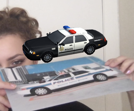 Augmented Reality Police Car