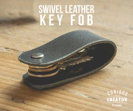 Swivel Leather Key Fob