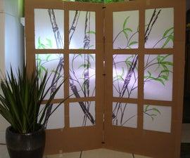 Cardboard Shoji Screen - Room Partition