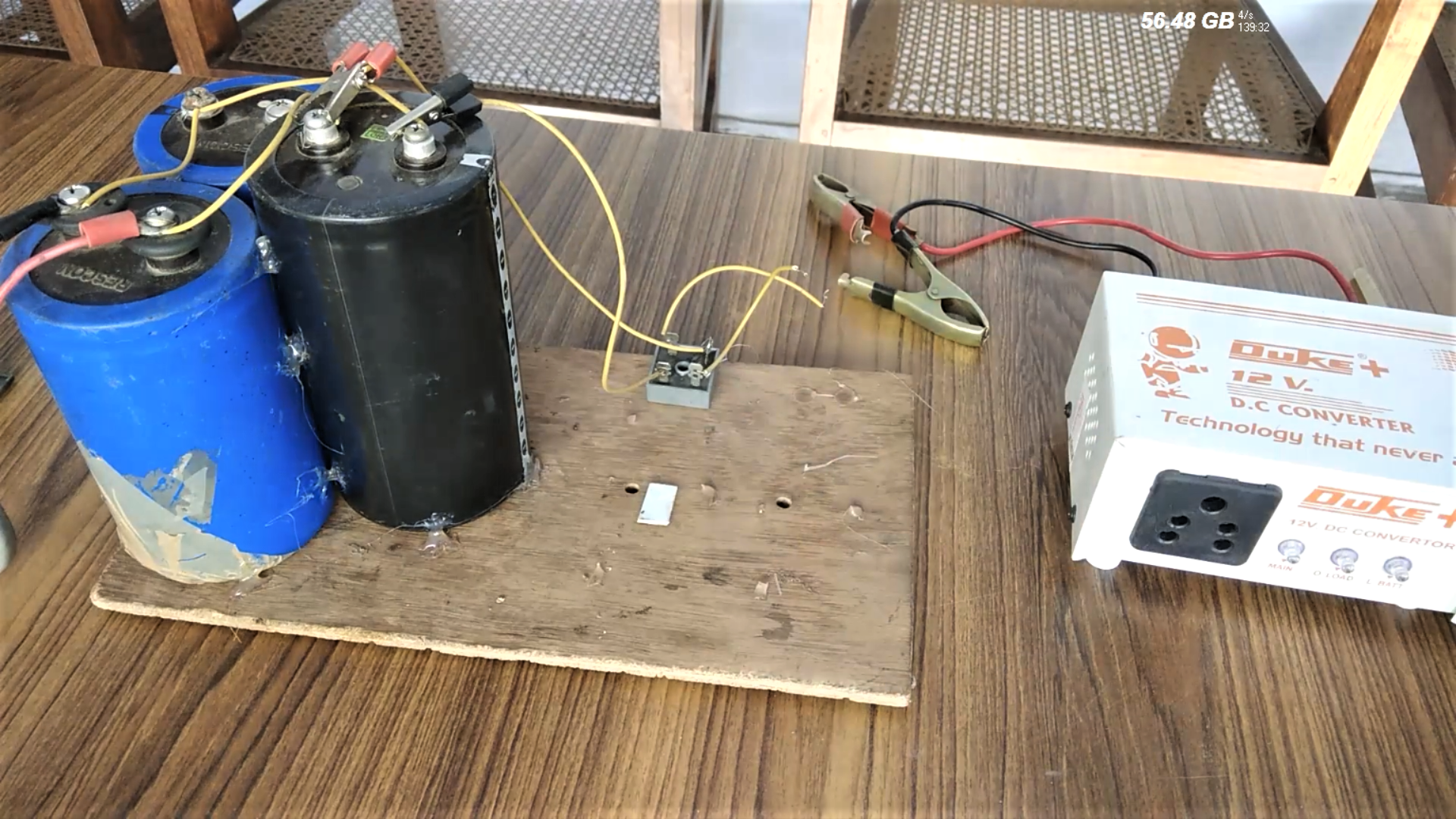 Picture of Connecting the Capacitors: