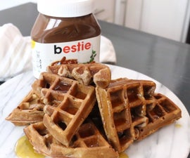 Homemade Nutella Infused Waffles