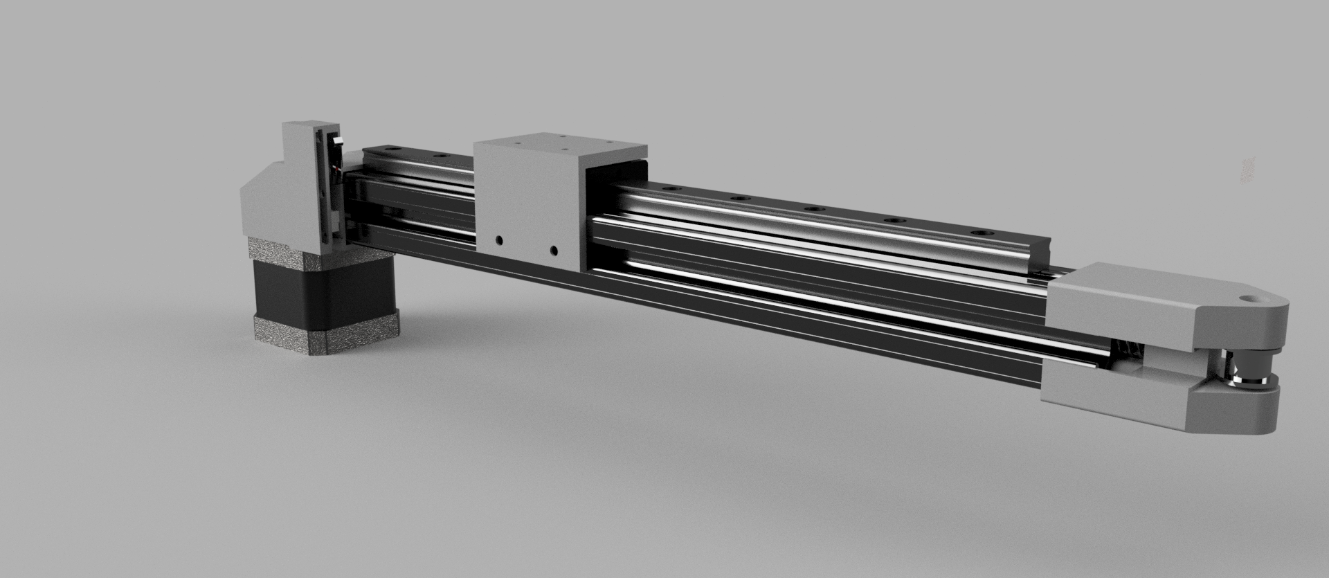 Picture of Generic Linear Actuator With Built-in Tension Spring