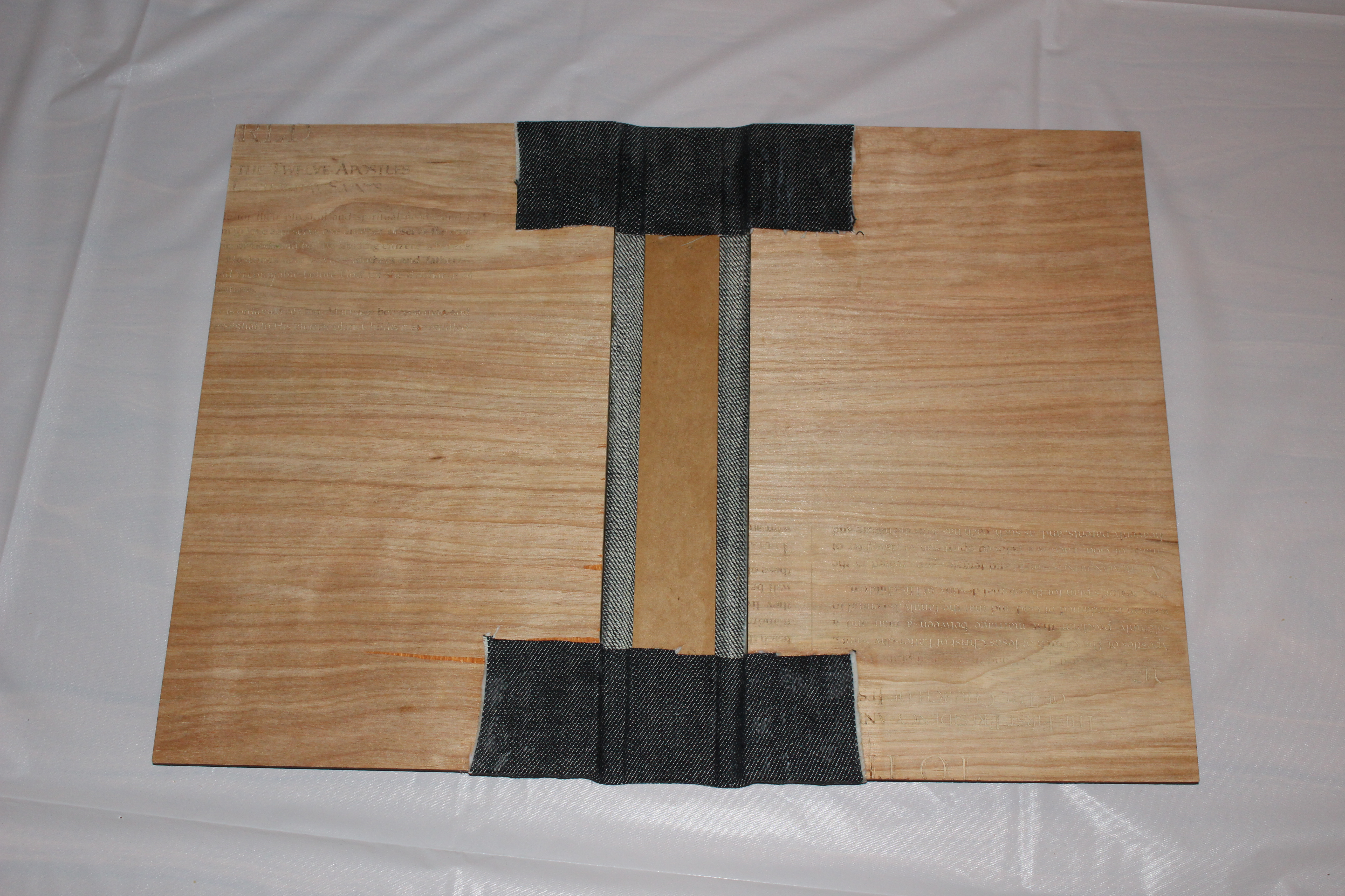 Picture of Attach Spine and Cover Boards to Cover Material