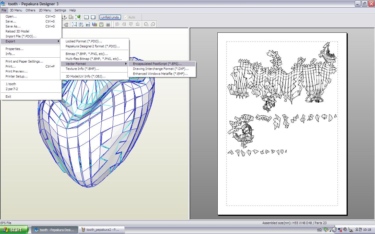 Picture of Unfold the 3ds File With Pepakura