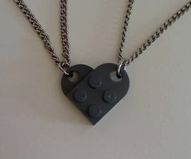 Lego Interlocking Heart Pendants