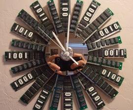 Glow in the dark RAM clock
