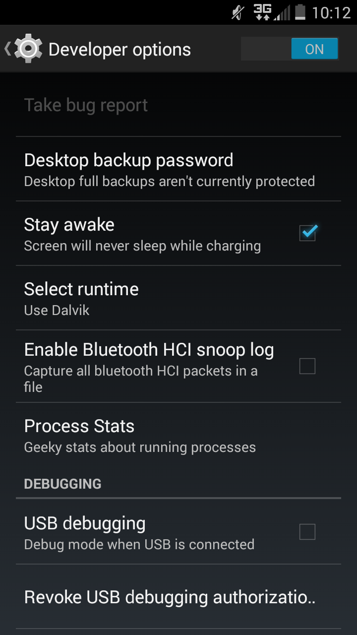 Picture of Change Android Runtimes