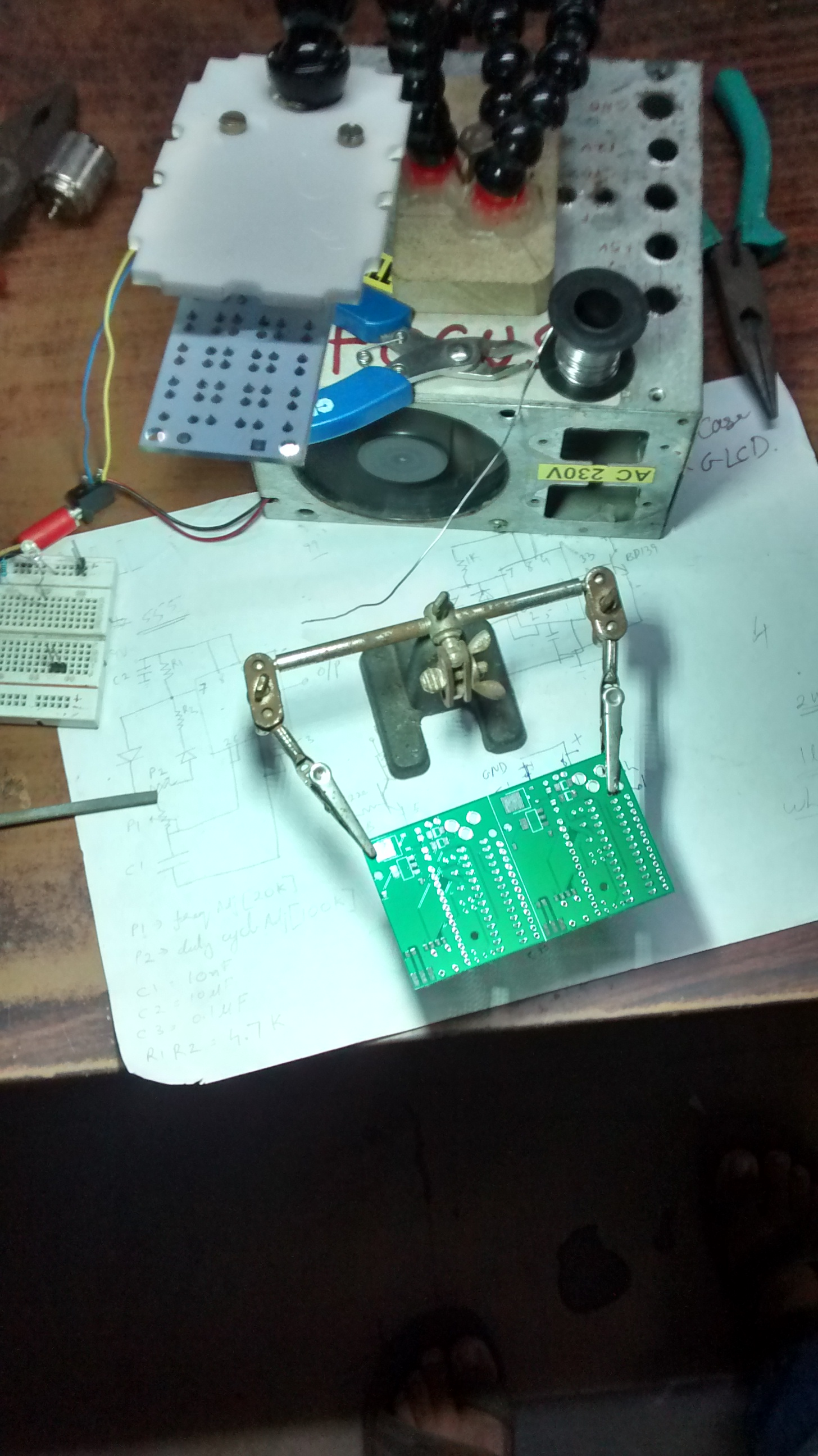 Picture of DIY Desk Lamp for Soldering