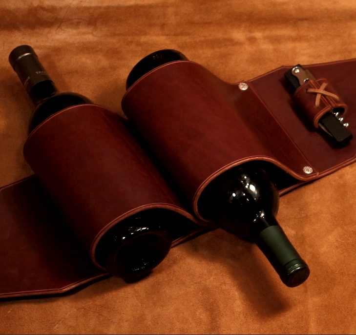 Picture of Leather Wine Rack