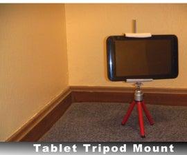 Simple Tablet/Smartphone Tripod Mount