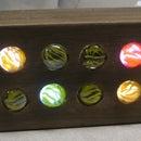 Binary LED Marble Clock