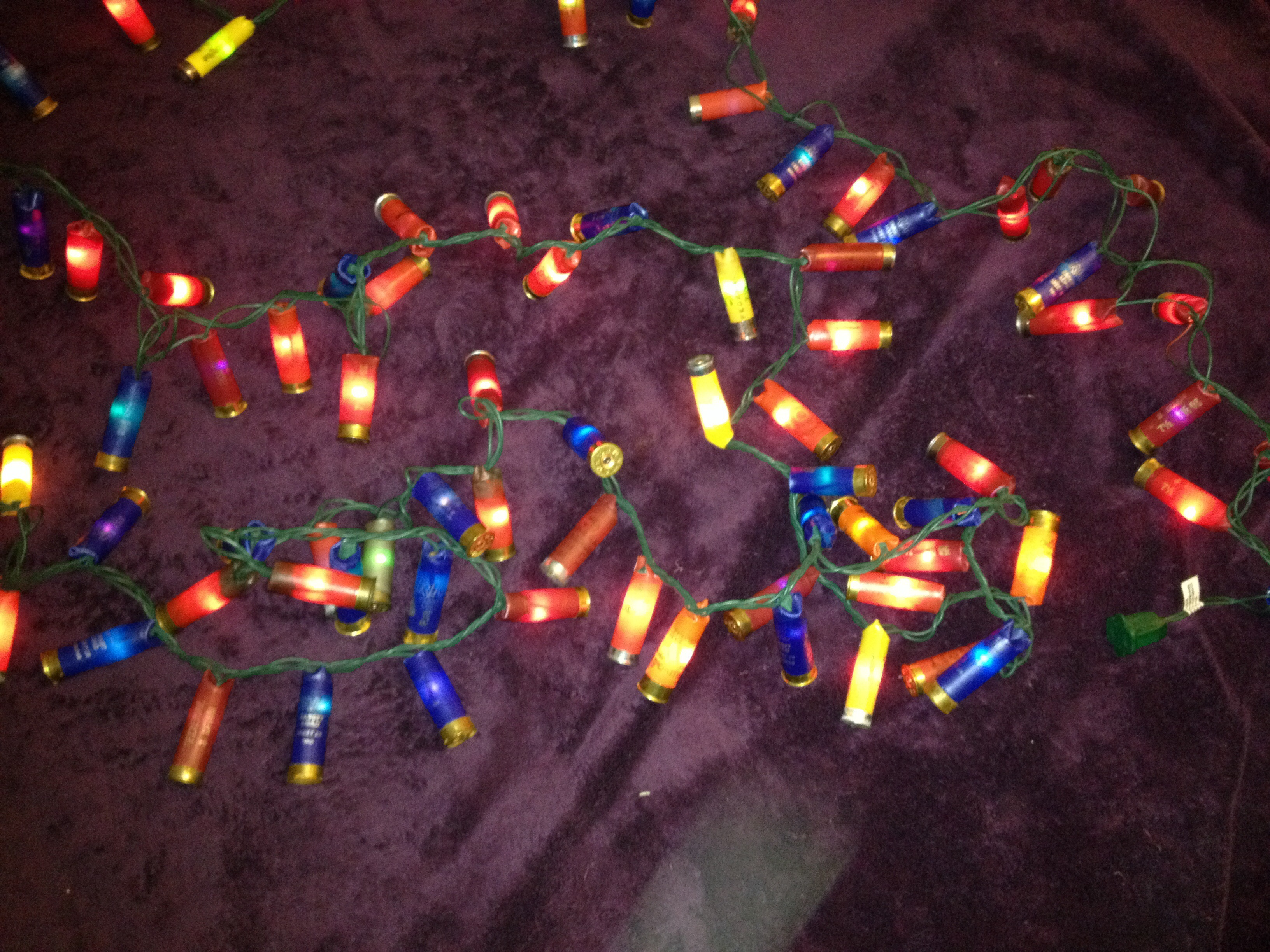 Picture of Finished Shotgun Shell Christmas Lights!