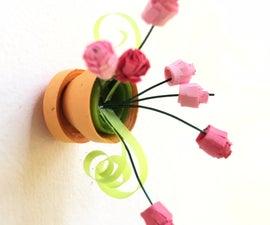 Mini Quilled Flower Pot