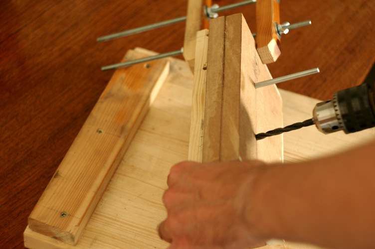 Picture of Drilling the Main Rod Holes