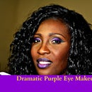 Dramatic Purple Make up look