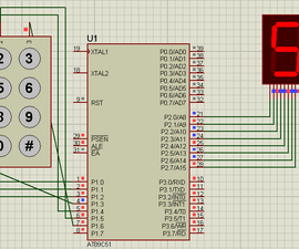 Keypad Interface With 8051 and Displaying Keypad Numbers in 7 Segment