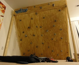 Freestanding Indoor Rock Climbing Wall For $150