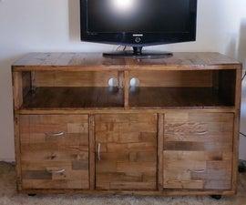 Pallet Wood TV Cabinet