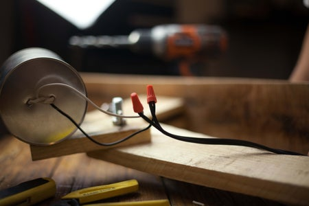 Attach Lamp Wire to the Bulb Socket
