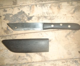 Tanto Style Knife and Wooden sheath