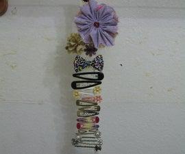 Ribbon Hair Clip Holder