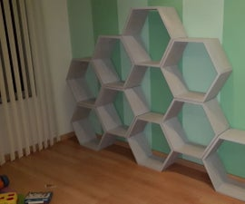 Honeycomb Beehive Toy Shelves - With CNC Help