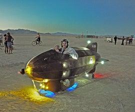 The Golden Zeppelini, art on wheels
