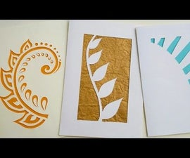 How to Make Greeting Cards   Paper Cutting Art
