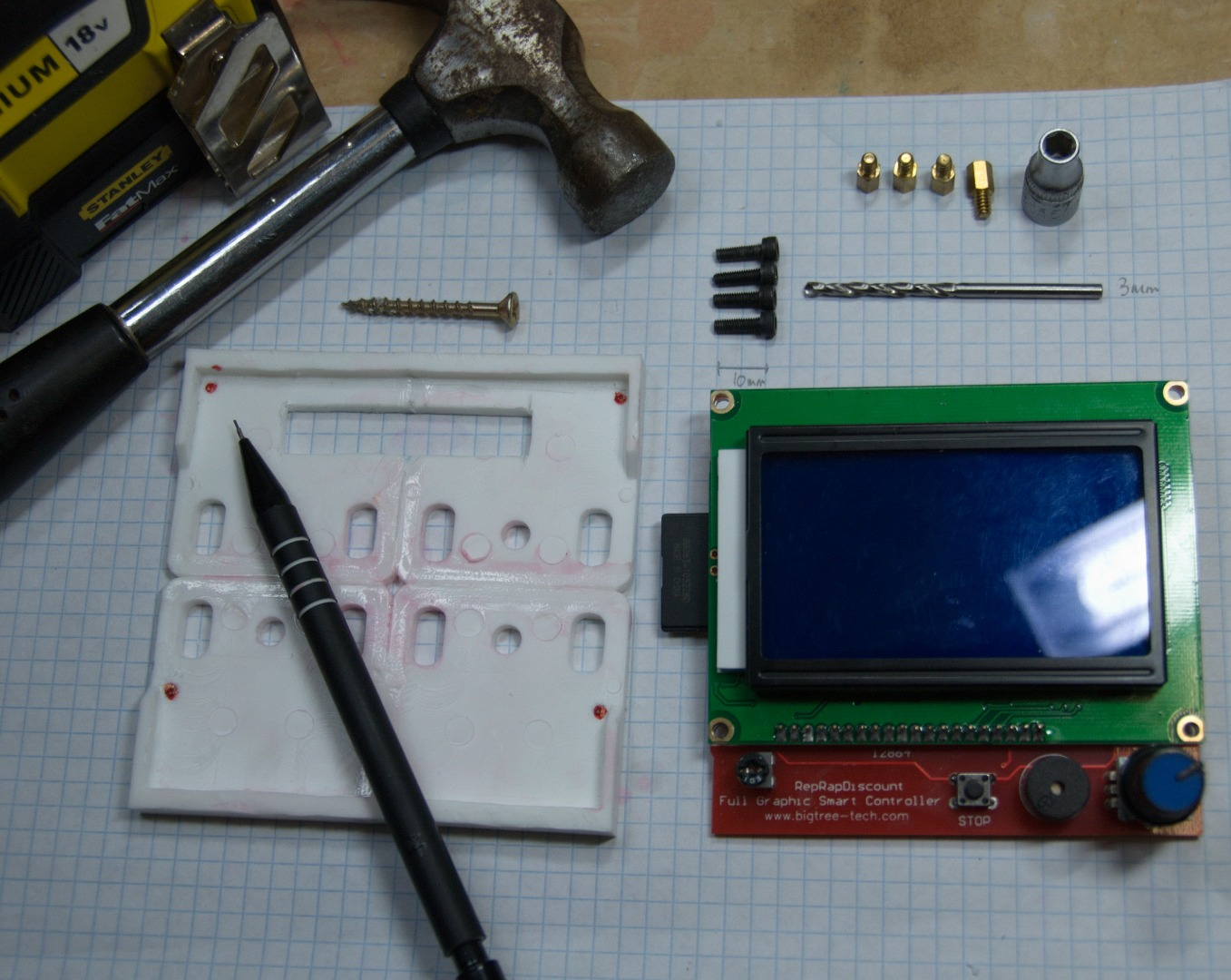 Picture of Y-axis: LCD Mount (optional)