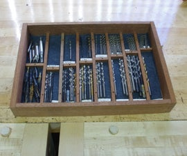 Organized Drill Bit Drawer