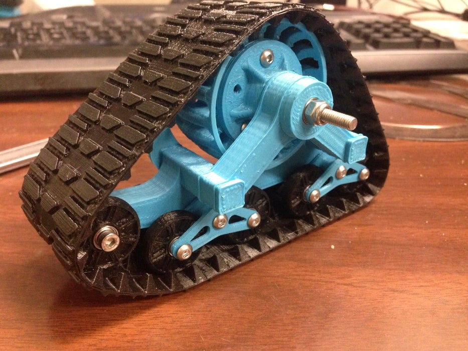 3d Printed Mattracks For Rc Car In 1 10 Scale 17 Steps With Pictures Instructables