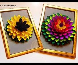 DIY 3D Flower Gift Decor