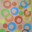 Abstract Circles Wall Art or Binder Cover Design
