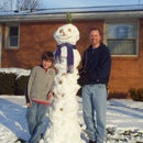 Super Tall Snowman with a Pineapple Hat