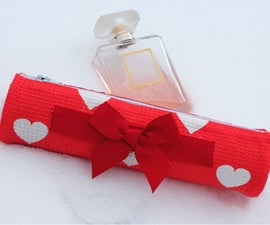 DIY Valentines Day Gift / Pencil Case Recycling Cardboard Tube NO SEW