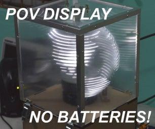 POV Display With Wireless Power!