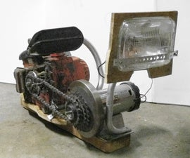 Chainsaw flashlight (gas engine powered spotlight)
