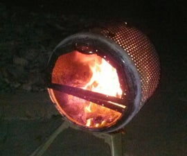 A different Fire Pit from a Washing Machine drum