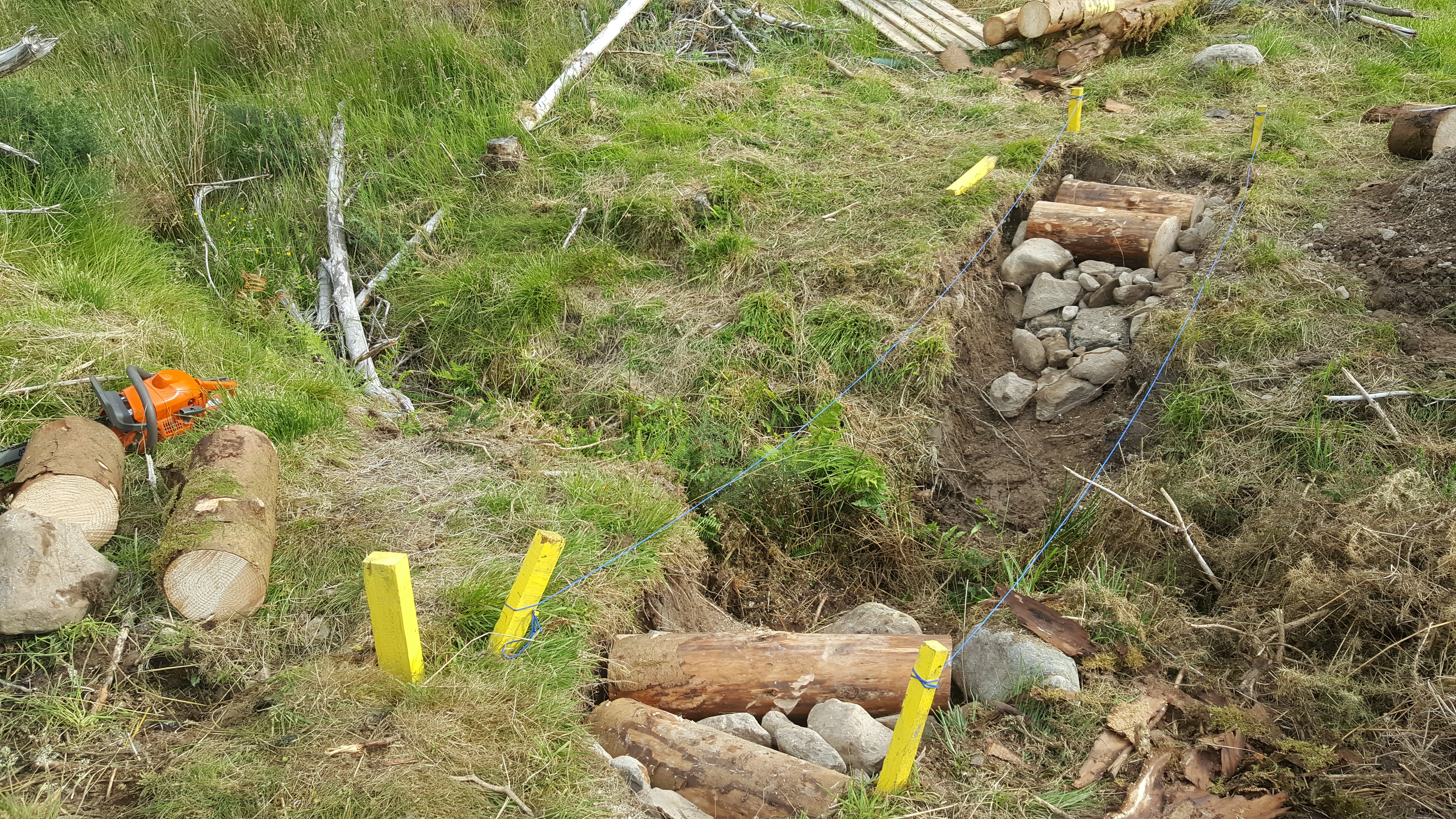 Picture of Founfdation Drainage and Restrainer Logs