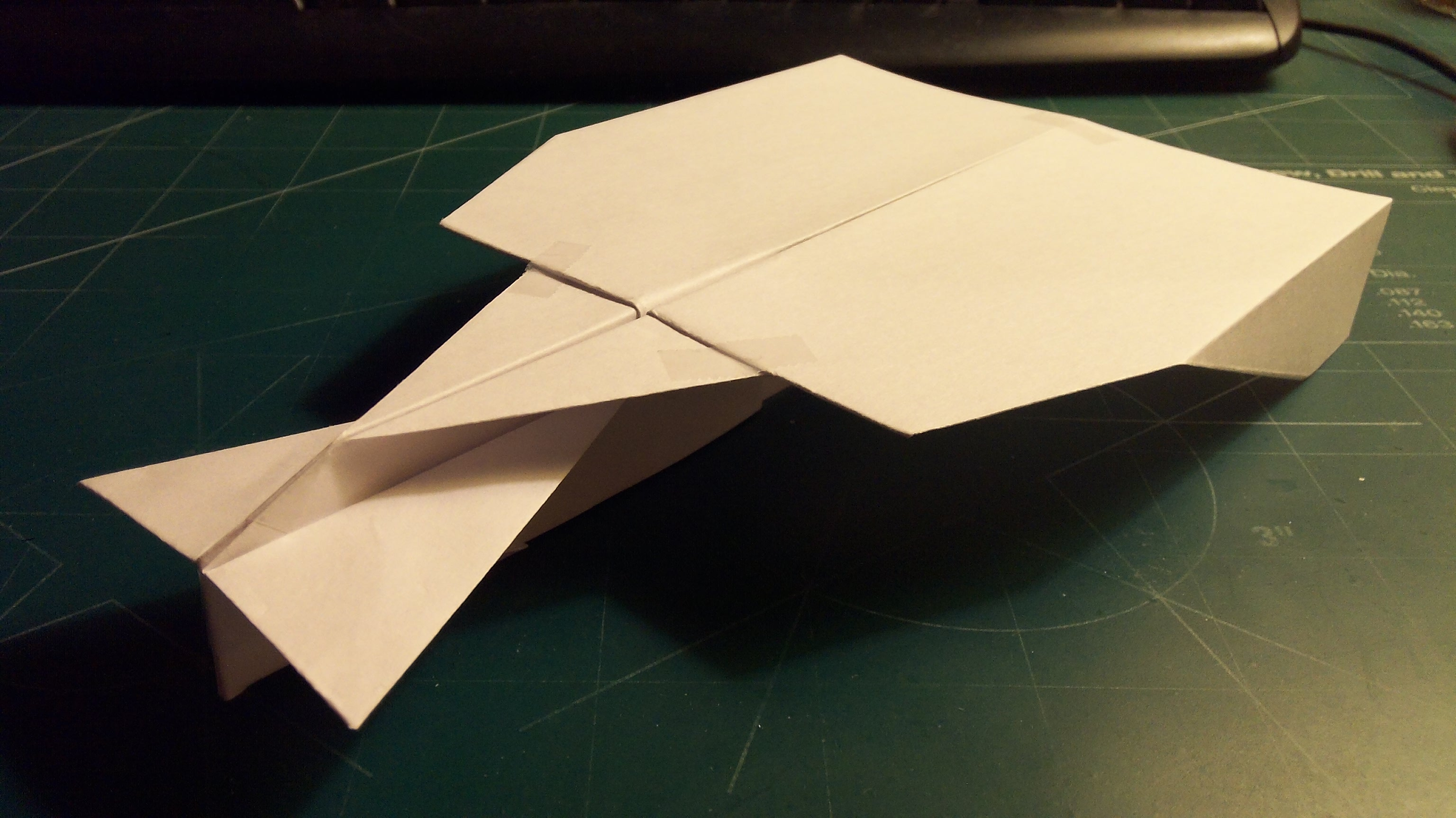Picture of How to Make the Simple Vulcan Paper Airplane