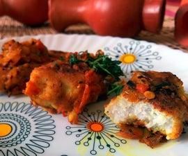 Indian arbi or taro chop
