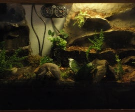 Terrarium / vivarium waterproof rock work for frogs and amphibians